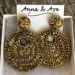 Funky Gold Bead Earrings